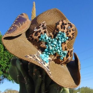 PETER GRIMM Zeke Drifter Cowboy Hat Turquoise